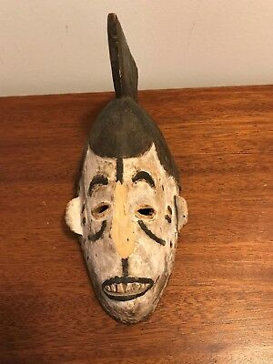 Rare Antique  African Carved Wood Collector's Mask