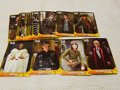 Doctor Who Signature Series YELLOW parallel cards lot of 15 - each #'d to 25