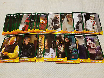 Doctor Who Signature Series GREEN parallel cards lot of 22 - each #'d to 50
