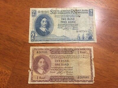 South Africa 2 Rand banknotes 1962-1965 circulated P-105b