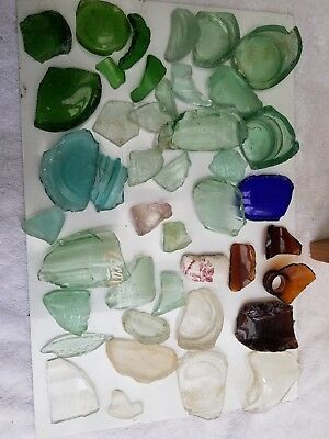 Antique Broken Bottle Glass Pieces Found after Flooding in Virginia Waters