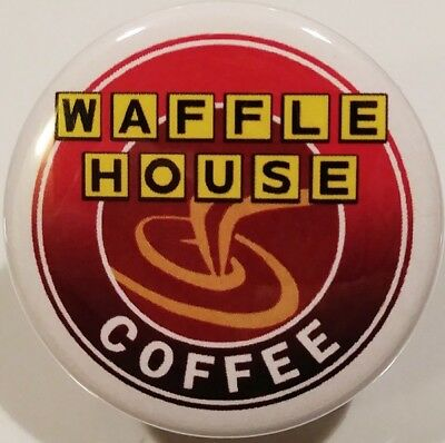 Waffle House PIN - White Coffee BUTTON Rare Fast Food Christmas Stocking Stuffer