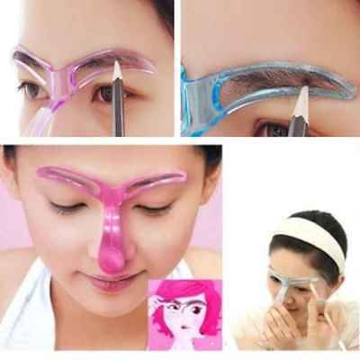 Reuse Eyebrow Stencils Shaping Grooming Eye Brow Makeup Model Template Tool