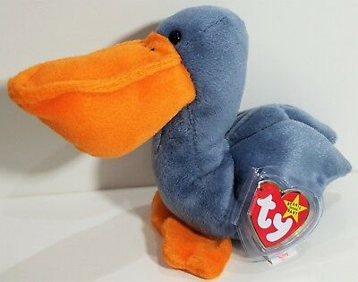 """TY Beanie Babies """"SCOOP"""" the PELICAN Bird - MWMTs! RETIRED! CHECK OUT MY BEANIES"""