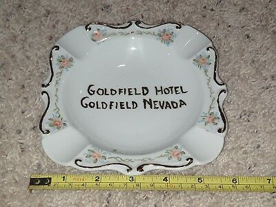 "Goldfield Hotel Nevada 5-3/4"" Glass Ashtray Floral"