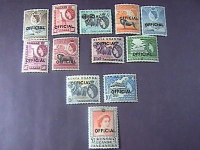 K.U.T. # O1-O12-MINT NEVER/HINGED--COMPLETE SET---OFFICIALS---QEII--1959(ts)