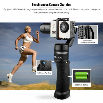 XSTEADY Handheld 3Axis Gimbal Stabilizer+Brushless 7.5h for GoPro Hero 6/5/4 Cam