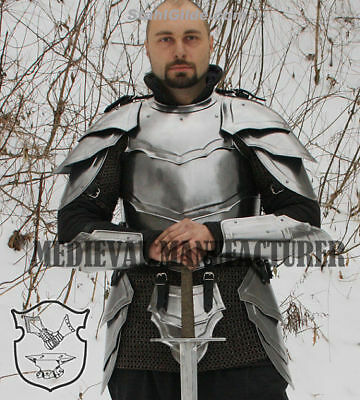 Larp, Elven, Fantasy, Medieval Costume, Steel Armor, Armour Cuirass Front & Back