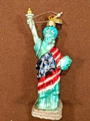 Ornaments Kurt Adler Glass Statue Of Liberty Very Nice and Rare