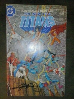 The new teen titans #3 (november 1984, DC) signed george perez coa nightwing