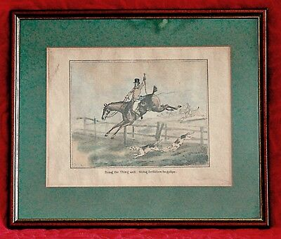 "HENRY ALKEN (19TH CENTURY) Hand Coloured Engraving ""Doing the Thing Well"""