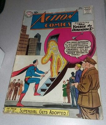 Action Comics #271 dc 1960 Voyage To Dimension X! Early supergirl appearance lot