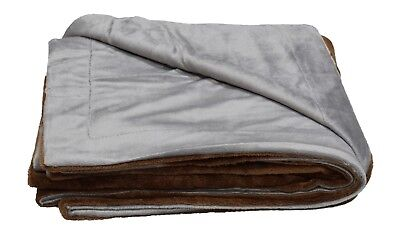 PetBed4Less  Waterproof Silky Soft Throw Dog Blanket w/ Reversible Duo layers