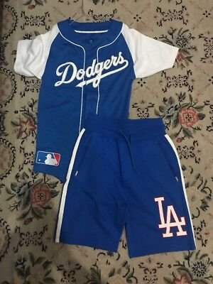 Majestic Dodgers LA Jersey Shorts Shirt Xs Men Maglia Pants Outfit DS Small S