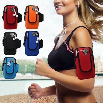 Sports Running Jogging Gym Cycling Arm Band Case Holder Bag Armband Phone Holder