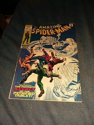 THE AMAZING SPIDER-MAN #74 marvel comics 1969 silver age silvermane last 12 cent