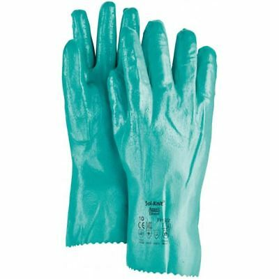 """Ansell Sol Knit 39-124 Nitrile Gloves / Gauntlets 300mm / 12"""" length size 10"""