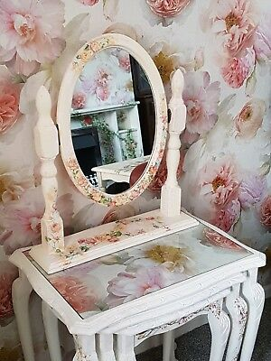 Dressing table mirror Upcycled Vintage