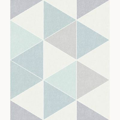 Teal / Grey Scandi Geo Triangle Wallpaper - Arthouse 908205 New