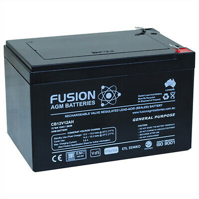 Fusion 12V 12Ah General Purpose AGM Battery CB12V12AH