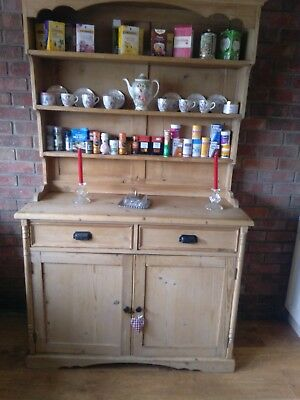 Victorian pine wide dresser Antique