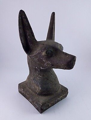 ANCIENT EGYPTIAN ANTIQUE ANUBIS HEAD Statue Stone 1750-1500 BC