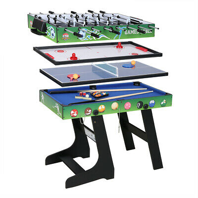 4FT 4 in1 Multi Combo Game Table Hockey Table Foosball Table Pool Table Tennis