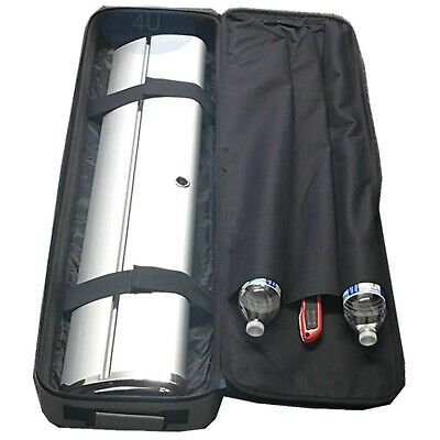 """51""""L x 12""""W x 4""""H Grey Travel Bag for Retractable Banner Stand Hard Case Chrome"""