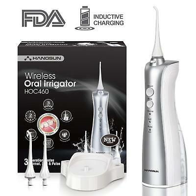 Hangsun Dental Water Flosser Cordless Rechargeable Oral Irrigator Electric new