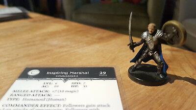 D&D Miniatures: Inspiring Marshal (Giants of Legend 17, Rare) + Statkarte