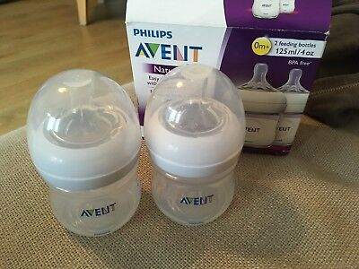 philips avent natural bottles 2x Brand New