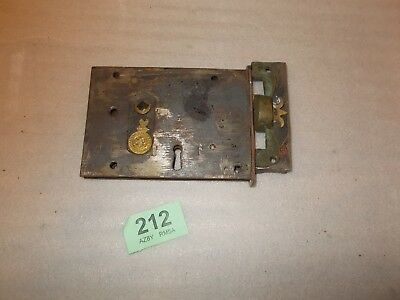 Vintage Antique Rim Lock / Latch Door Accessories With Keep 212