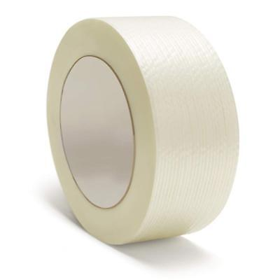 "Filament Tape 1 1/2"" x 60 Yard 4 Mil Fiberglass Reinforced Packing Tape 72 Rolls"