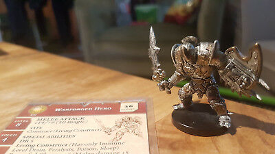 D&D Miniatures: Warforged Hero (Aberrations 10, Rare) + Statkarte