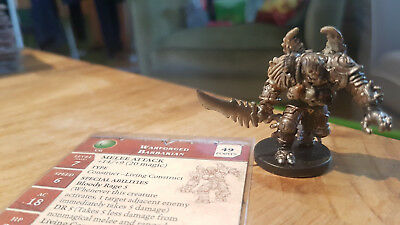 D&D Miniatures: Warforged Barbarian (War Drums 24, Rare) + Statkarte