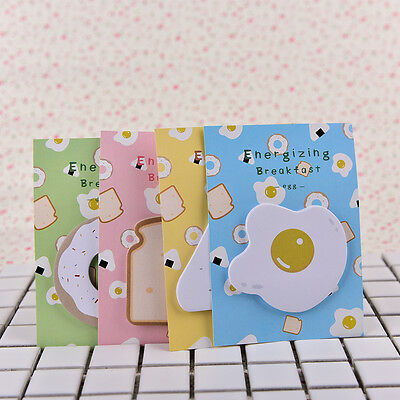 2X Sticky Note Memo Pad Label Notes Message Board - Cute Breakf Nu