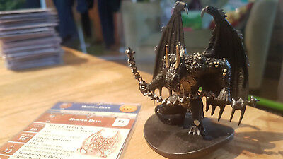 D&D Miniatures: Horned Devil (Blood War 34, Rare) + Statkarte