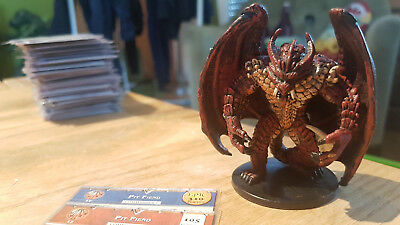 D&D Miniatures: Pit Fiend (Blood War 42, Rare) + Statkarte