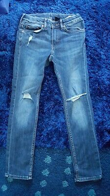 Boys H&M ripped Skinny Jeans Size 8-9Y