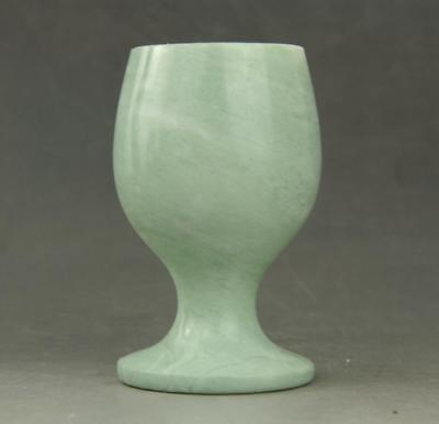 Chinese Natura Jade hand carved Beautiful wine Cup  a01