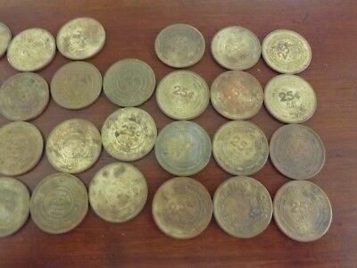 31 Vintage 1980s Chuck E Cheese 25¢ Tokens Coins USED 1980 1982 1983 WORN DIRTY