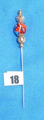 18 Pin Divider For Lacemaking Vintage Moretti Millifiore Bead  Nice Sharp Point
