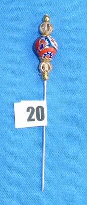 20 Pin Divider For Lacemaking Vintage Moretti Millifiore Bead  Nice Sharp Point
