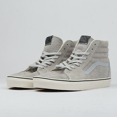VANS SK8-HI (HAIRY suede)gray dawn   snow white EU 43 5f292afa2