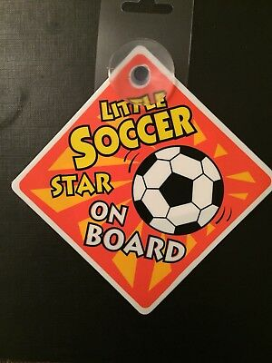 Baby Car Signs - Little Soccer Star On Board