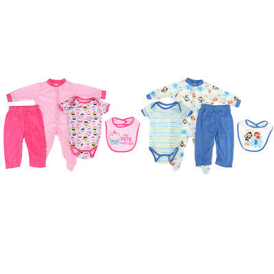 8pcs Reborn Baby Girl Boy Doll Clothes Newborn Clothing Suit Doll Accessory