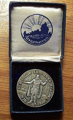 Iceland Medallic 1000 Years Althing Silver 5 Kronur 1930 UNC in Original Box