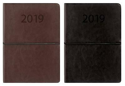 2019 Diary A5  Diary Week To View Plain Design With Elasticated Holding Band