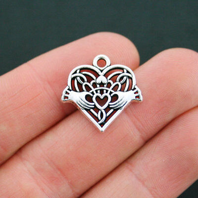 10 Arrow Charms Antique Silver Two Sided with Hole for Jump Rings SC1539