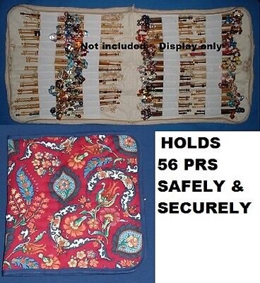 No 25  Padded Zip Bobbin Bag Holds 56 Prs Safely/ Securely Laura Ashley Material